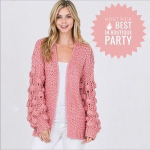 Sweaters - Handmade Cable Knit Chunky Sweater Open Cardigan